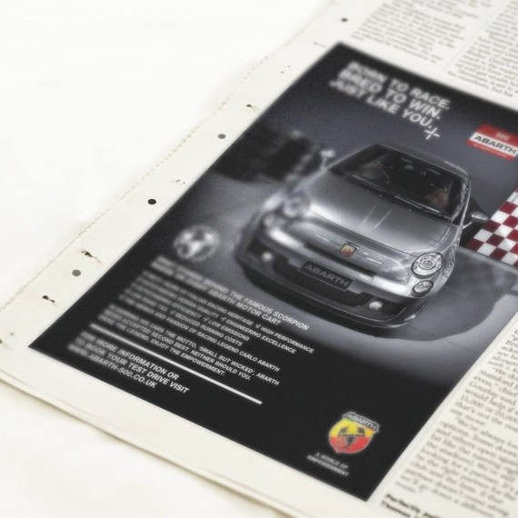 Abarth 500 press advert