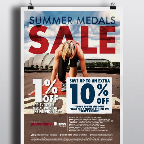 Powerhouse Fitness Summers Medals poster