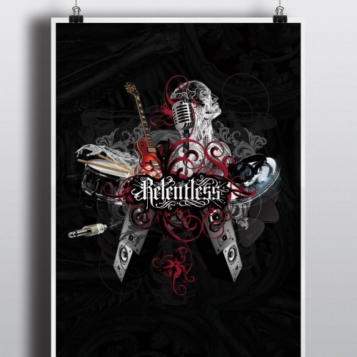 Relentless Music Cafe Poster